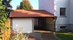 Fertiggarage mit carport anbau  Fertiggarage Heidelberg mit Carportanbau